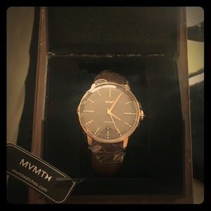 NWT MVMT Brown Leather Watch